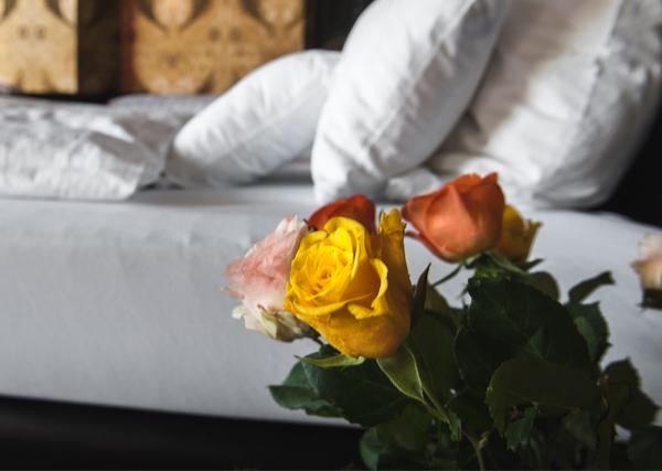 Erlebnis Suite Rosen am Bett